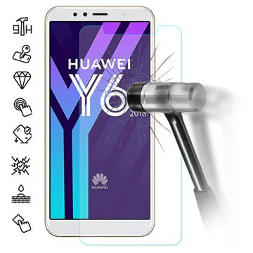 Huawei Y6 (2018) Tempered Glass Screen Protector - 9H, 0 3mm - Clear