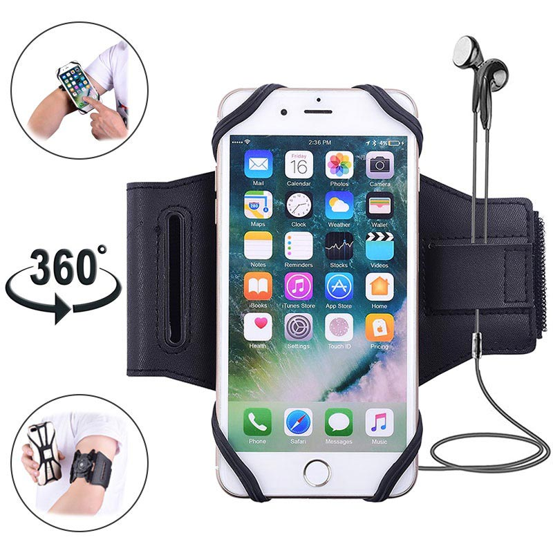 8f57ce47c378 Universal Magnetic Sports Armband for Smartphones - 4-5.8 - Black