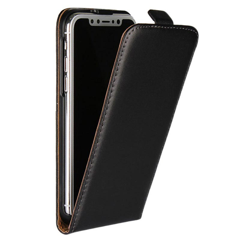 low priced 74764 c896a iPhone X Vertical Flip Case - Black