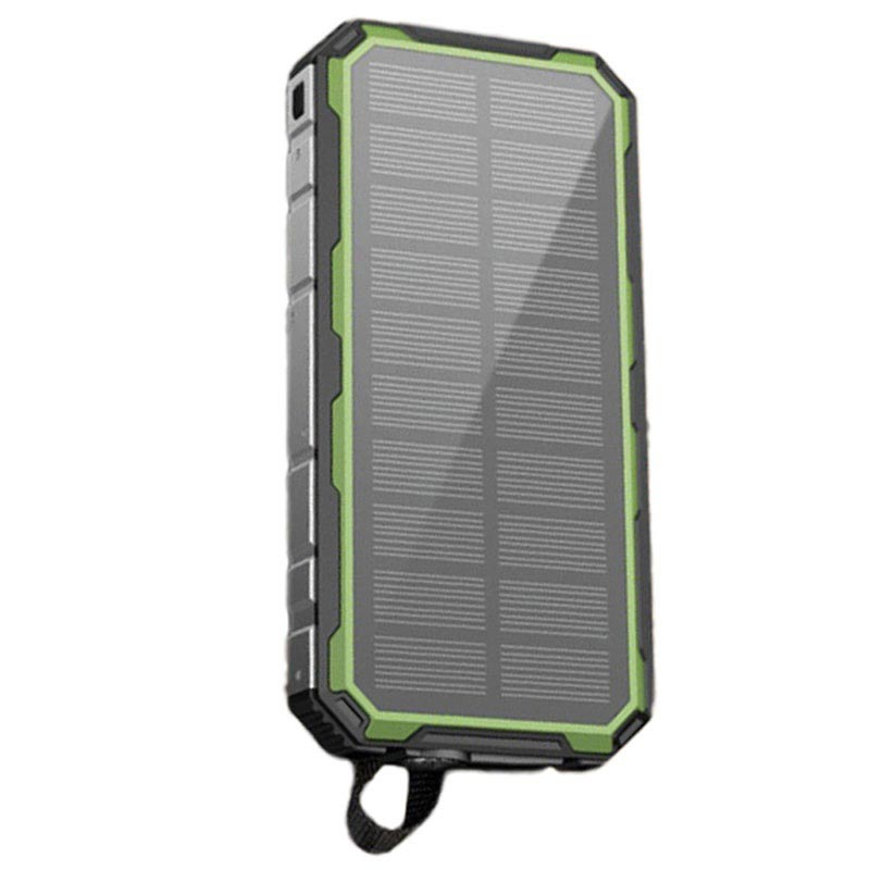 Water Resistant Solar Charger / Power Bank - 20000mAh - Green