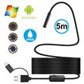 Waterproof 8mm Endoscope Camera - USB, MicroUSB, Type-C - 5m