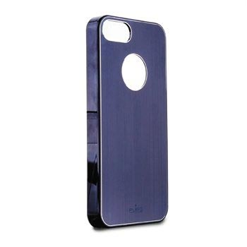 iPhone 5 / 5S / SE Puro Metal Effect Click-On Cover - Blue