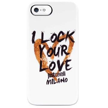 iPhone 5 / 5S / SE Puro Just Cavalli TPU Cover - White