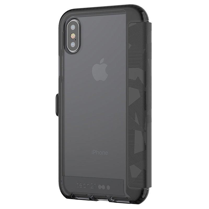 best authentic 313d4 95047 iPhone X tech21 Evo Wallet Case - Black